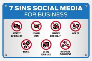 Sins of Social Media for Business-01
